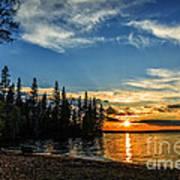 Beautiful Sunset At Waskesiu Lake Poster