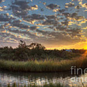 Bend In The Bayou Sunrise Poster