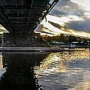 Beneath The New Hope - Lambertville Bridge Poster