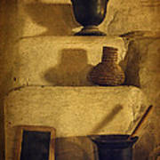 Bent's Old Fort Kitchen Fireplace Poster