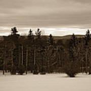 Berkshires Winter 1 - Massachusetts Poster