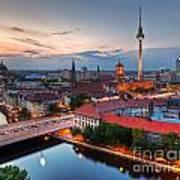 Berlin Germany Major Landmarks At Sunset Poster