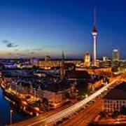 Berlin Skyline Panorama Poster by Jean Claude Castor