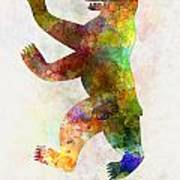 Berlin Symbol In Watercolor Poster