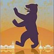Berlin Vintage Poster Poster