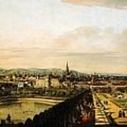 Bernardo Bellotto Wien Vom Belvedere Aus Gesehen 1758 1761 Poster