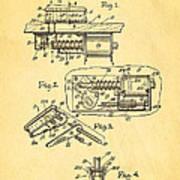 Berninger Reprojecting Ball Bumper Patent Art 1967 Poster