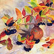 Berry Harvest Still Life Poster