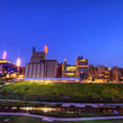 Best Minneapolis Skyline At Night Blue Hour Poster