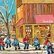 Best Sellers Original Montreal Paintings For Sale Hockey At Beauty's By Carole Spandau Poster