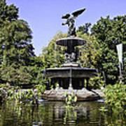 Bethesda Fountain Iv - Central Park Poster