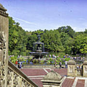 Bethesda Fountain V - Central Park Poster