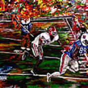 Beware Of The Tiger - Auburn Vs Georgia Football Poster by Mark Moore