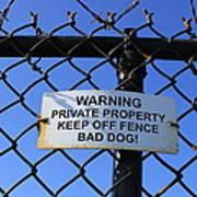 Beware Sign Poster