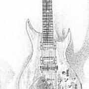 Bich Electric Guitar Sketch Poster