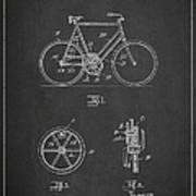 Bicycle Gear Patent Drawing From 1922 - Dark Poster