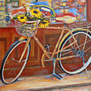 Bicycle In Cortona Poster