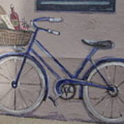 Bicycle Leaning On A Wall Poster