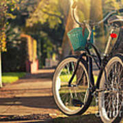 Bicycle On Sunny Street Poster