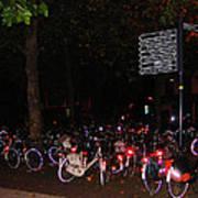 Bicycle Parking In Haarlem Poster
