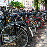 Bicycle Parking Lot Poster