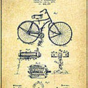 Bicycle Patent Drawing From 1891 - Vintage Poster