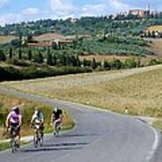 Bicycling In Tuscany Poster