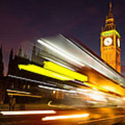 Big Ben And A Bus Trail Poster