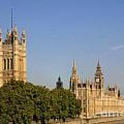 Big Ben And The Houses Of Parliament In London England Poster