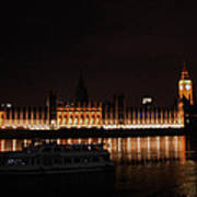 Big Ben And The Houses Of Parliment On The Thames Poster
