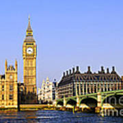 Big Ben And Westminster Bridge Poster