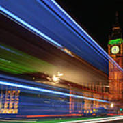 Big Ben Light Trails Poster by Ivelin Donchev