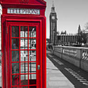 Big Ben Red Telephone Box Poster