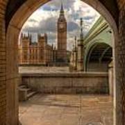 Big Ben Through The Arch Poster