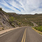 The Winding Roads Of Big Bend National Park Poster