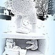 Big Bird Snow Sculpture Poster