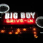 Big Boy Drive-in At Night Poster