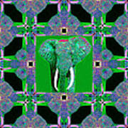 Big Elephant Abstract Window 20130201p128 Poster by Wingsdomain Art and Photography