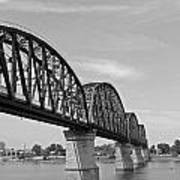 Big Four Bridge Bw Poster