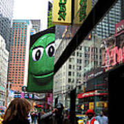 Big Green M And M Poster
