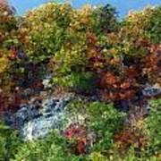 Big Hill Cliffs In Autumn Poster