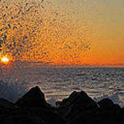 Big Island Hawaii Kona Sunset Poster