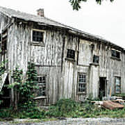 Big Old Barn - Rustic - Agricultural Buildings Poster by Gary Heller