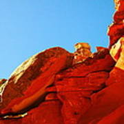 Big Orange Rock Poster