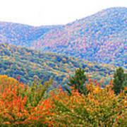 Big Pisgah Mountain In The Fall Poster