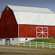 Big Red Barn In West Michigan Poster