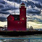 Big Red Holland Michigan Poster
