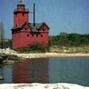 Big Red Holland Michigan Lighthouse Poster