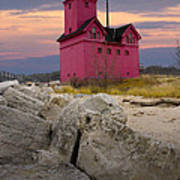 Big Red Lighthouse By Holland Michigan Poster