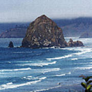 Big Rock On The Oregon Coast Poster